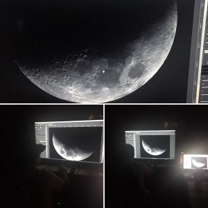 Dr. Shawn Gurley Looking at Moon